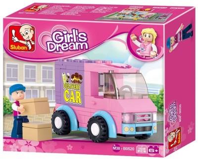 Sluban Girls Dream  102 Pcs  Multicolor Sluban Blocks   Building Sets