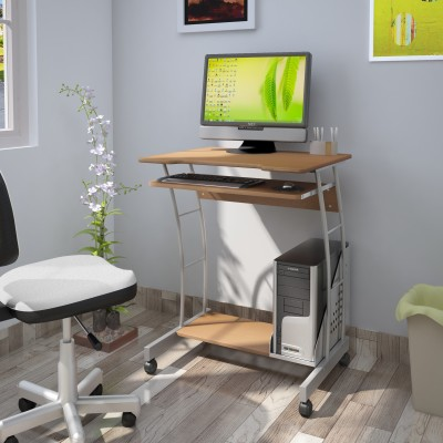 Nilkamal Solid Wood Computer Desk(Modular, Finish Color - Brown)