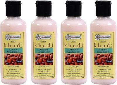 Khadi Rishikesh Herbal Almond Hair Conditioner Pack of 4(840 ml)