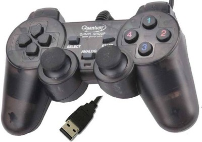 QHMPL QHM7468 2V USB GAMEPAD  BLACK  Enjoy long, comfortable play sessions; thanks to smooth curves and grips. Joystick