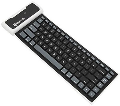 LS Letsshop Waterproof Silicone Rubber 109 Keys Bluetooth USB Keyboard for Laptop and PC Bluetooth Multi device Keyboard