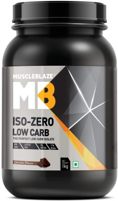 MuscleBlaze Iso zero, LOW CARB, Chocolate (1Kg) Whey Protein(1 kg, Chocolate)