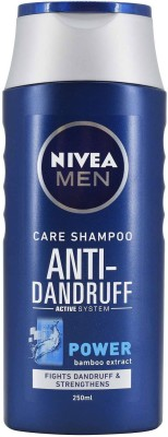 Nivea Men Care Shampoo Anti-Dandruff, Power Bamboo Extract - 250ml(250 ml)