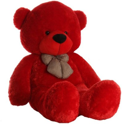 click 4 best deal 3 Feet Soft lovable huggable cute teddy bear  best for someone special  90 cm  Red     4 mm Red click 4 best deal Soft Toys