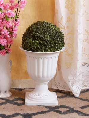 Riddhi Siddhi Glass Vase(20 inch, Clear)
