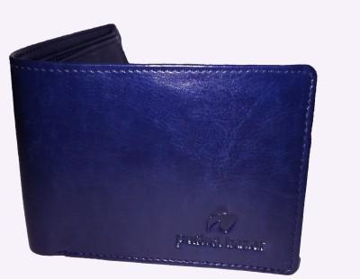 K London Men Black, Blue Artificial Leather Wallet(5 Card Slots)