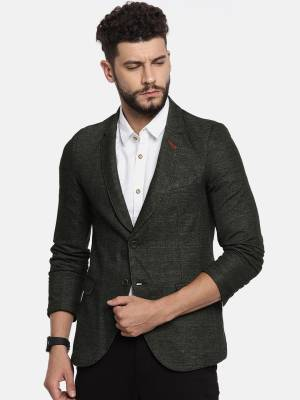 The Indian Garage Co Solid Single Breasted Casual Men's Blazer