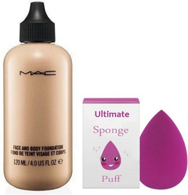 Ultimate Sponge Puff, Face And Body Foundation Of Mac(Set of 2)