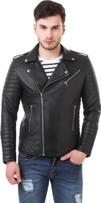Leather Retail Full Sleeve Solid Men Jacket