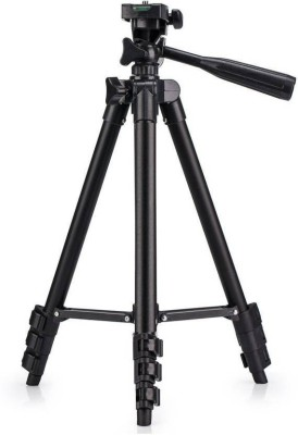 Padraig DSLR Camera Tripod - 3120 For Camera + Mobile Clip Holder Fully Flexible Mount Cum Tripod , 4-section lever-lock legs for easy height adjustments , Light weight Tripod(Black, Supports Up to 500 g) 1