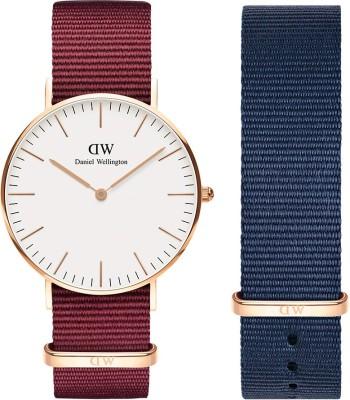 Daniel Wellington DW00500146 Classic Roselyn 36mm Rose Gold & 18mm Bayswater Strap, Watch & Strap Combo Analog Watch  – For Men & Women