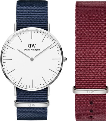 Daniel Wellington DW00500148 Classic Bayswater 40mm Silver Plated & 20mm Roselyn Strap. Watch & Strap Combo Analog Watch  – For Men