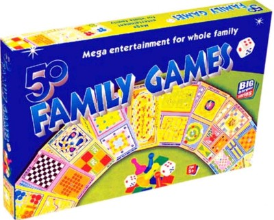 Bonkerz 50 CLASSIC FAMILY BOARD GAMES In a Single Pack Board Game