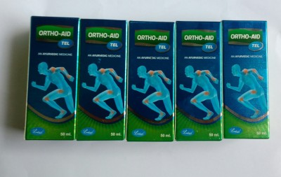 Ortho Aid Oil (pack of 5) ortho aid Pain Relief Oil Liquid(250 ml)