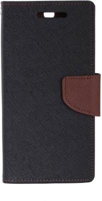 SAMARA Flip Cover for Vivo V3 Max(Black, Brown, Dual Protection, Artificial Leather, Silicon, Cloth)
