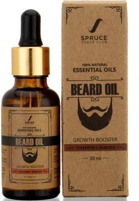 Spruce Shave Club Beard Growth Oil (30ml) -100% Natural - Cedarwood & Mandarin Hair Oil(30 ml)