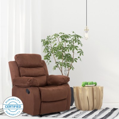 Perfect Homes by Flipkart Costello Fabric Manual Recliners(Finish Color - Brown)