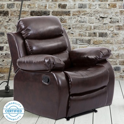 Perfect Homes by Flipkart Costello Leatherette Manual Recliners(Finish Color - Brown)