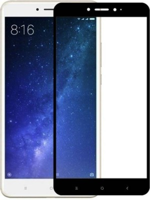 SESS XUSIVE Screen Guard for Xiaomi Mi Max 2 5D 9H Fully Edge to Edge Coloured Tempered Glass - Black