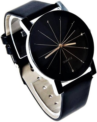 ReniSales New Diamond Cut Glass Leather belt watch For Women Watch  - For Girls