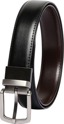 Chisel Men Formal Black Artificial Leather Reversible Belt