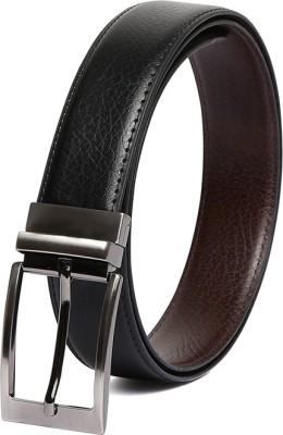Chisel Men Formal Black Artificial Leather Reversible Belt