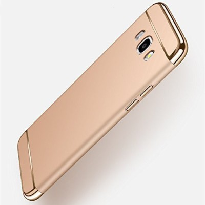 Novo Style Back Cover for Samsung Galaxy J7 2015 (Old Edition ) Hard Premium Matte Shockproof 3 in 1(Gold, Metal, Plastic)