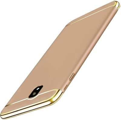 Novo Style Back Cover for Samsung Galaxy J7 Pro Thin Hard Slim Fit Stylish Cover with Electroplate Frame Case(Gold, Metal, Plastic)