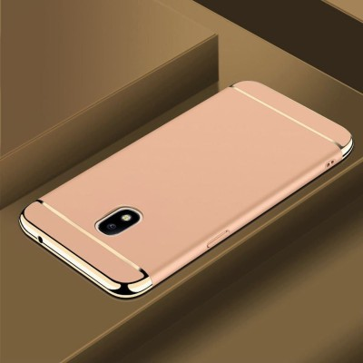 Novo Style Back Cover for Samsung Galaxy J7 Pro Hard Premium Matte Shockproof 3 in 1(Gold, Metal, Plastic)
