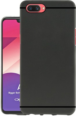 Jkobi Back Cover for OPPO A3s(Black, Dual Protection, Rubber)