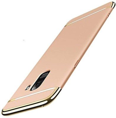 Novo Style Back Cover for Samsung Galaxy J6 (2018) 3 in 1 Sleek Rubberised Matte Hard case(Gold, Metal, Plastic)