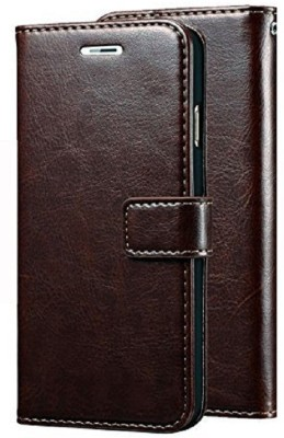 TruVic Flip Cover for OPPO F1s(Coffee Brown, Leather)