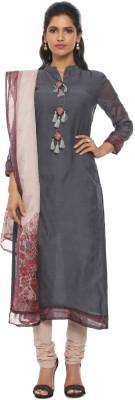 Soch Chanderi Printed Salwar Suit Dupatta Material(Un-stitched)