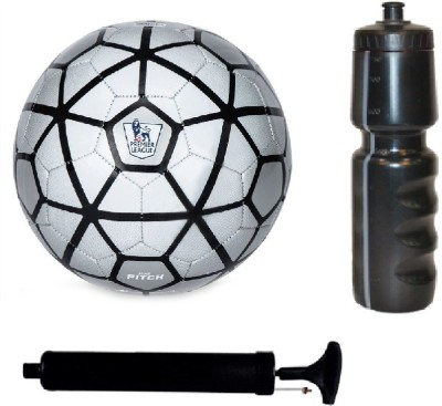SportsCorner Kit of Strike Silver Football (Size-5) with Air Pump & Sipper Football Kit Flipkart
