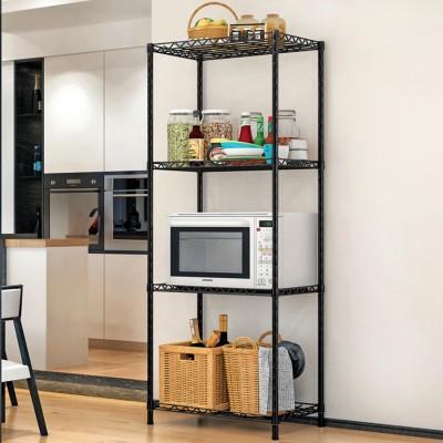 FurnCentral Metal Kitchen Cabinet(Finish Color - Black)