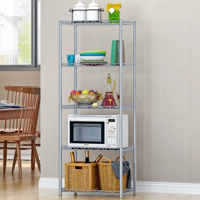 FurnCentral Metal Kitchen Cabinet(Finish Color - Sliver)