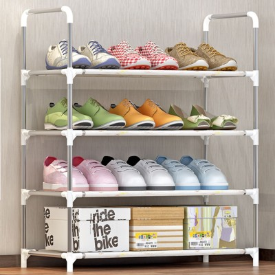 FurnCentral Metal Shoe Stand(4 Shelves)