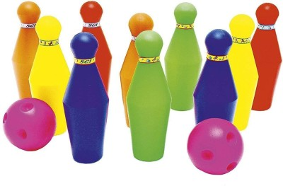 UNITOYS Set Multi Color Play Game - Gift Toy -LargeSmall Plastic Bowling Sports Bowling Set