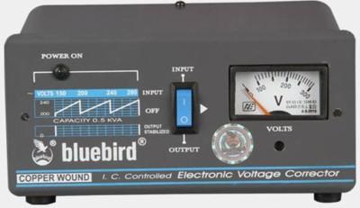 bluebird 0.5KVA 70V VOLTAGE STABILIZER Black bluebird Voltage Stabilizers