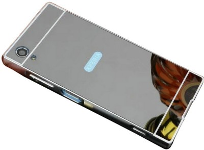 js cool Bumper Case for Luxury Aluminum Metal Bumper with PC Mirror Back Cover Case for Sony Xperia XA1 Ultra(Greyish black, Hard Case, Polycarbonate) Flipkart