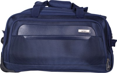 Safari (Expandable) Parker Wheel On Duffle 65 cm (Navy Blue) Duffel Strolley Bag(Blue) at flipkart