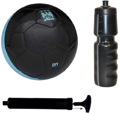 SportsCorner Black Football (Size-5) with Air Pump & Sipper Football Kit Flipkart