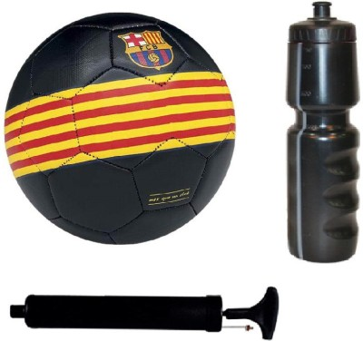 SportsCorner Kit of Black/Yellow/Red Football (Size-5) with Air Pump & Sipper Football Kit Flipkart