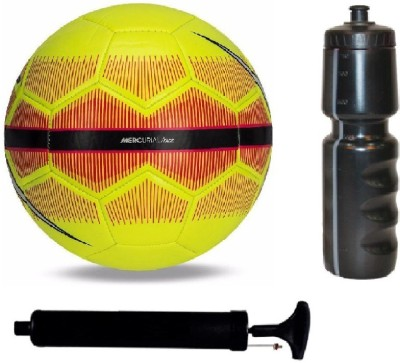 SportsCorner Kit of Yellow/Red Football (Size-5) with Air Pump & Sipper Football Kit Flipkart