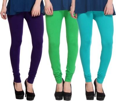 BuyNewTrend Churidar  Legging(Beige, Black, Maroon, Dark Blue, Green, Purple, Solid)