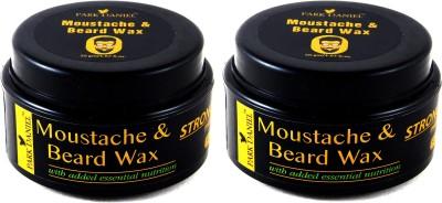 Park Daniel Moustache & Beard Wax Combo of 2 Bottles of 50 gm(100 gm) Wax(100 g)