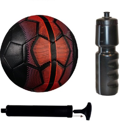 SportsCorner Kit of Black/Red Football (Size-5) with Air Pump & Sipper Football Kit Flipkart