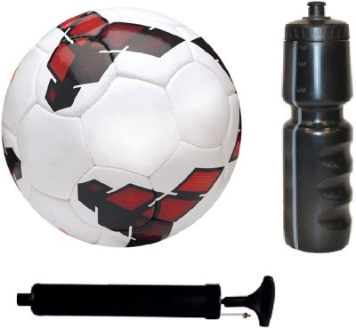 SportsCorner Kit of League Red/Yellow Football (Size-5) with Air Pump & Sipper Football Kit Flipkart