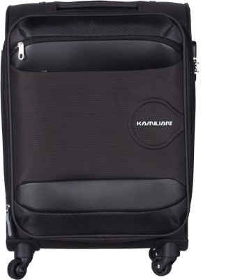 Kamiliant Oni Spinner Soft Trolley Brown 68 cm Expandable  Check-in Luggage - 26 inch(Brown) at flipkart