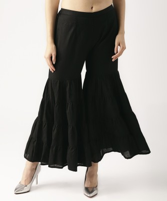 Libas Flared Women Black Trousers